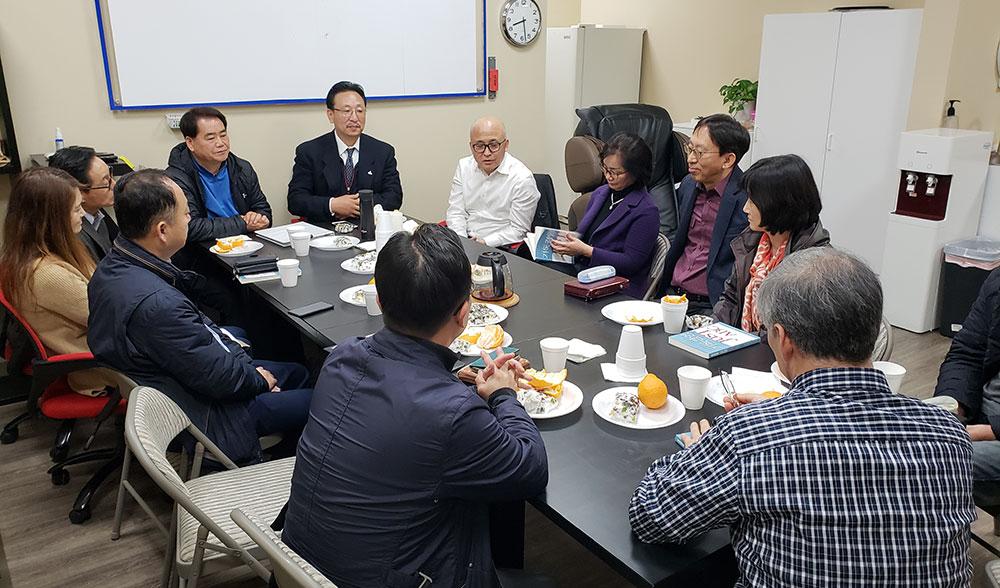 총연 회장단 아틀란타 지회 방문