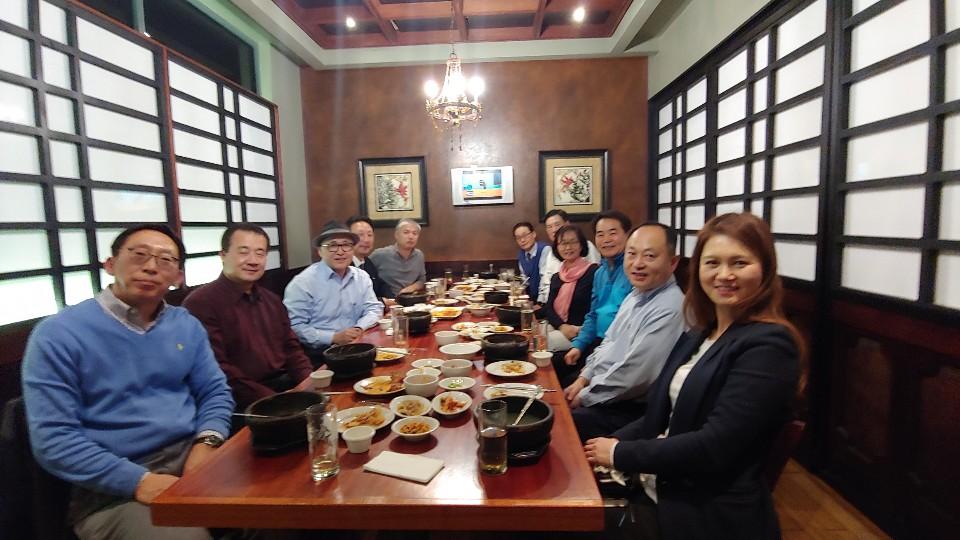 총연 회장단 중부연합회 방문
